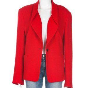 LAFAYETTE 148 NY Red Wool Knit Blazer 6
